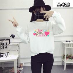 Áo thun tay dài hình trái tim