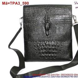 Túi đeo ipad in cá sấu vân nổi sành điệu cá tính TPA3