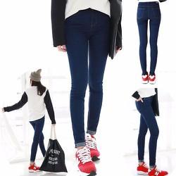 quần jean hai da lưng cao nữ
