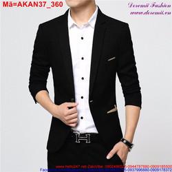 Áo khoác kaki nam giả vest phong cách sang trọng AKAN37