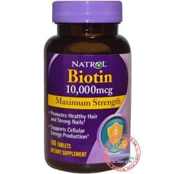 Viên uống kích thích mọc tóc Natrol Biotin Maximum Strength