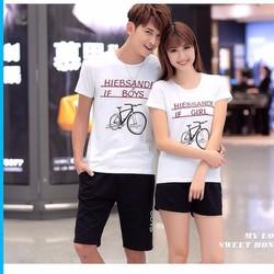 Áo thun đôi xe đạp