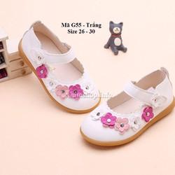 Giày búp bê màu trắng cho bé 3 - 5 tuổi G55
