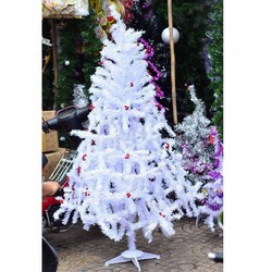 Cây thông noel trắng 1m2 - Combo 14 món