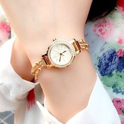 Đồng hồ nữ chống nước dây thép không gỉ 3 sợi liên hoàn