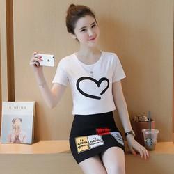 bộ áo vấy hình trái tim , hàng nhập giảm giá sỉ lẻ tại vivamua vn