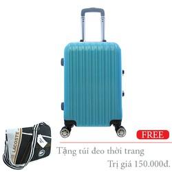 Vali nhựa cứng khung nhôm đựng 20Kg màu xanh TL014
