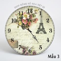 Đồng hồ treo tường họa tiết Paris