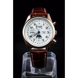 Đồng hồ kim nam 8 kim dây da 2 lịch automatic