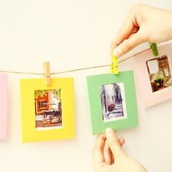 Bộ khung ảnh giấy treo tường màu sắc 3 inch