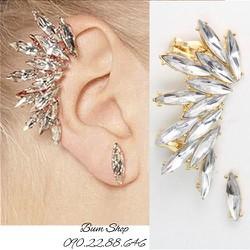 hoa tai vành cẩn đá siu sáng