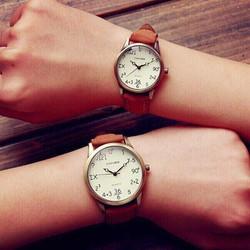 đồng hồ đôi teen dây da