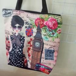Túi đeo vai nữ -  Siêu CUTE vải mềm KT40x30