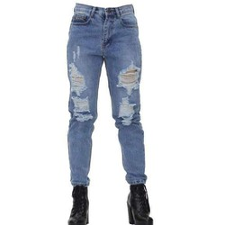 Quần jean dài rách lưng cao nhập khẩu Thái lan Phụ kiện cho bạn