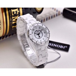 Đồng hồ  nữ dây ceramic đính đá