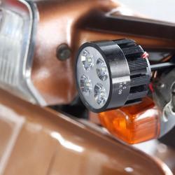 đèn pha trợ sáng xe máy xe đạp điện lắp gương