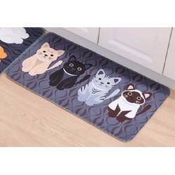 1 Thảm Lót Sàn Chống Thấm Mèo Con Dễ Thương 40x60cm