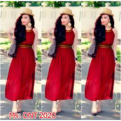 Đầm đỏ maxi hy lạp giống bella