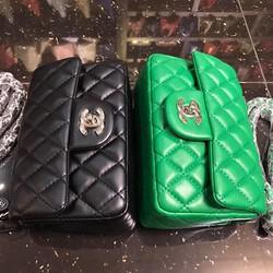Túi Xách .Chanel. Classic Khóa Bạc Size 20 Hàng Siêu Chuẩn