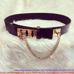 Thắt lưng nữ mang đầm phối dây xích sang trọng cá tính DM196