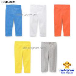 Combo 5 quần legging dài màu trơn size 1-8