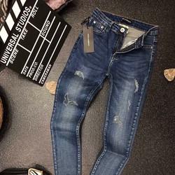 Quần jeans lưng cao was rách