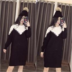 Váy len viền cực xinh cực cá tính