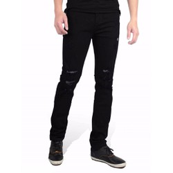 Quần jeans nam rách ống côn skinny hàng cao cấp
