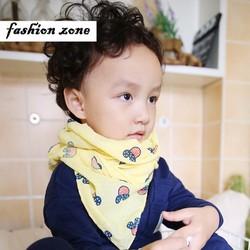 khăn choàng cotton siêu mềm mại cho bé họa tiết đầu mickey đáng yêu