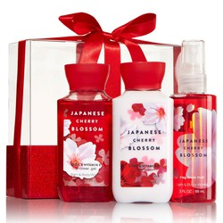 MINI GIFT SET JAPANESE CHERRY BLOSSOM  BATH AND BODY WORKS