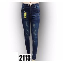 Quần jean nữ rách phong cách 2113