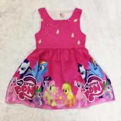 Đầm bé gái họa tiết Pony cực dể thương.