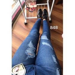 Quần jean hai da lưng cao