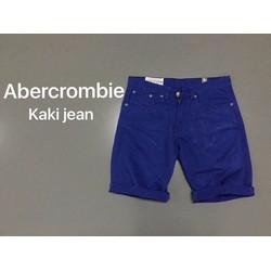 Quần short nam kaki jeans form body màu xanh cao cấp