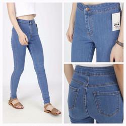 Mimihouse - Quần jean dài lưng cao không túi trước hàng nhập !!!