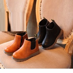 Giày trẻ em boot chelsea cổ ngắn V2 màu nâu