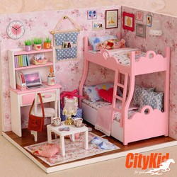 Đồ chơi mô hình nhà gỗ diy Cute Room H-012