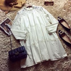 Đầm babydoll viền ren