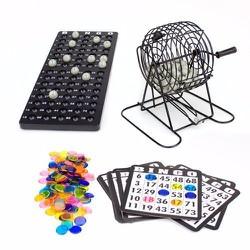 Bộ Đồ Chơi Lô Tô lồng cầu Bingo lồng sắt