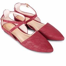 Giày búp bê hoa văn