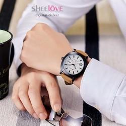 đồng hồ nam dây da sang trọng cá tính WH-2600