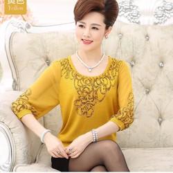 Hàng nhập: áo kiểu họa tiết sang trọng N797
