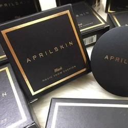 Phấn nước April Skin Black Magic Skin Snow Cushion mẫu mới
