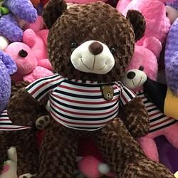 Gấu Teddy m4 - Gấu bông Teddy 1m4 giá rẻ - Màu nâu đen