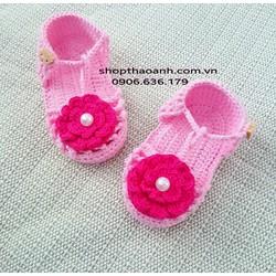 Giày len móc Handmade size 2 tháng đến 5 tháng