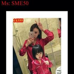 Sét mẹ và bé đồ ngủ phi bóng dễ thương xinh xắn SME50