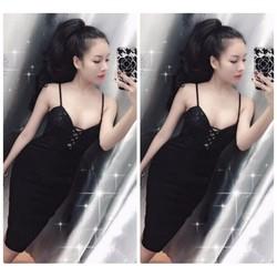 Đầm body đan dây ngực sexy