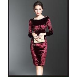 Đầm nhung body cao cấp SD932