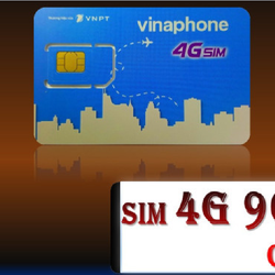 SIM 4G VINAPHONE 90GB MỖI THÁNG
