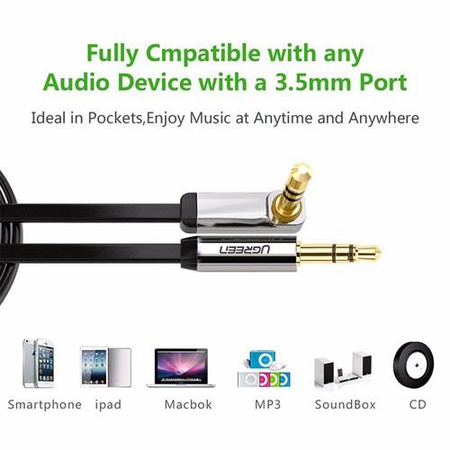 Cáp Audio 3,5mm dài 5M bẻ góc 90 độ Ugreen 10729 - 5274668 , 8758003 , 15_8758003 , 275000 , Cap-Audio-35mm-dai-5M-be-goc-90-do-Ugreen-10729-15_8758003 , sendo.vn , Cáp Audio 3,5mm dài 5M bẻ góc 90 độ Ugreen 10729